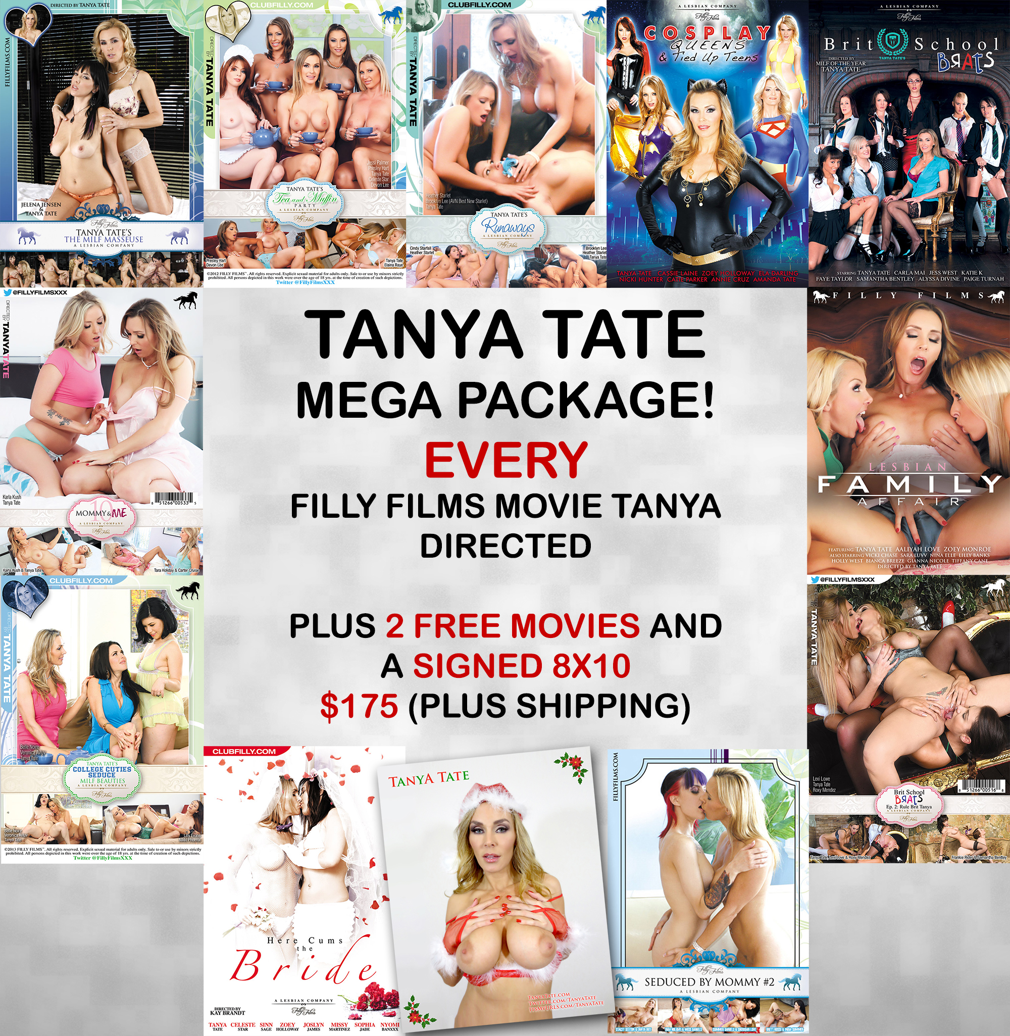 Tanya Tate Filly Films DVD Mega Crate - SALE ENDS DEC 5th!