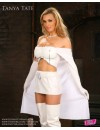 8 x 10 Tanya Tate Cosplay White Superhero Outfit Thigh High Boot